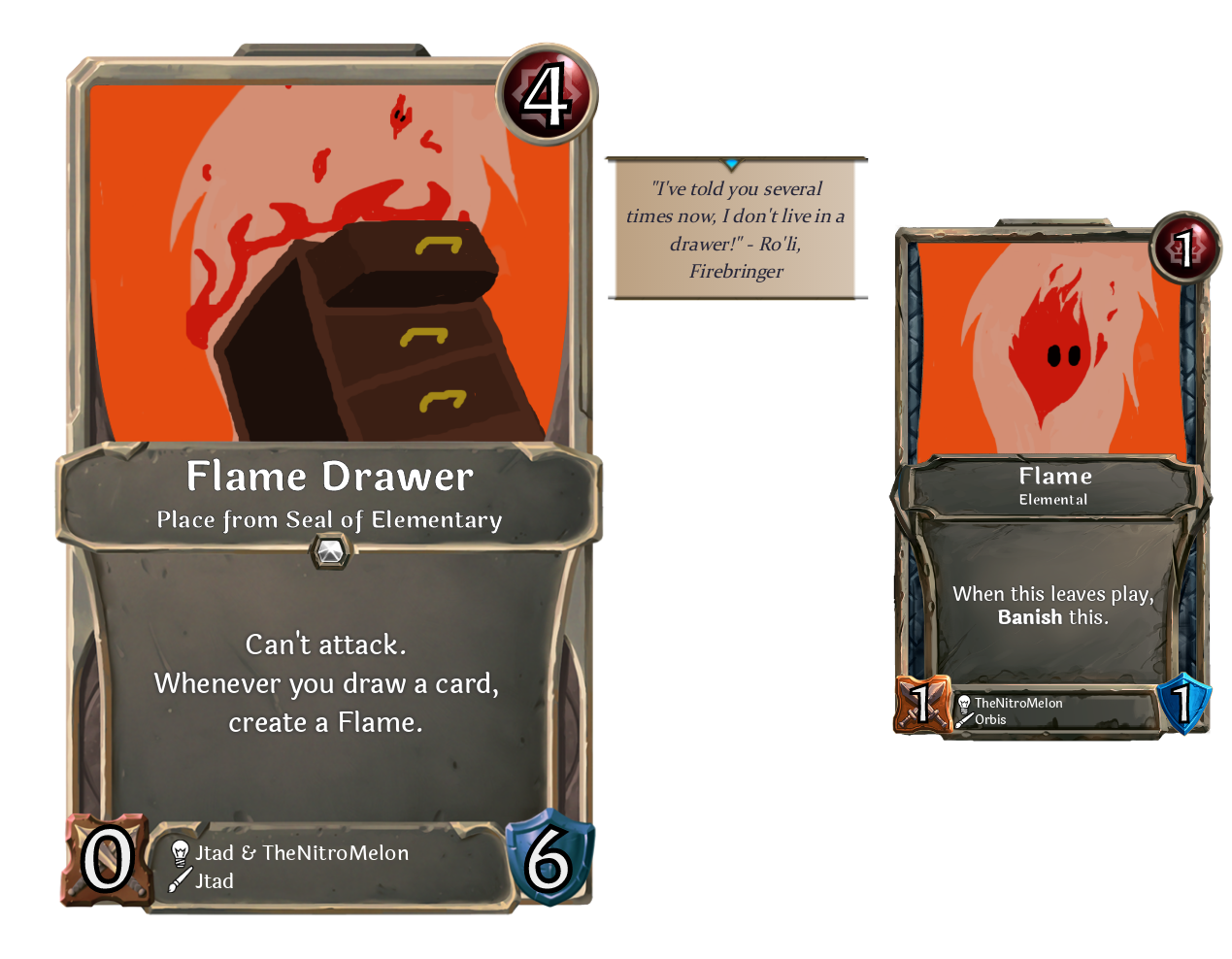 Flame Drawer